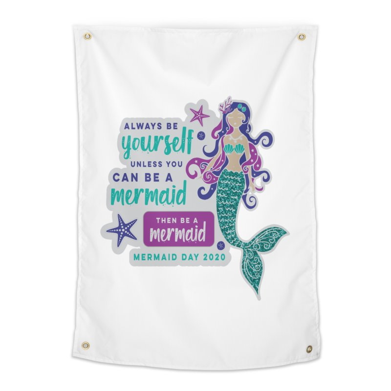 Be A Mermaid Home Tapestry by Moon Joggers's Artist Shop