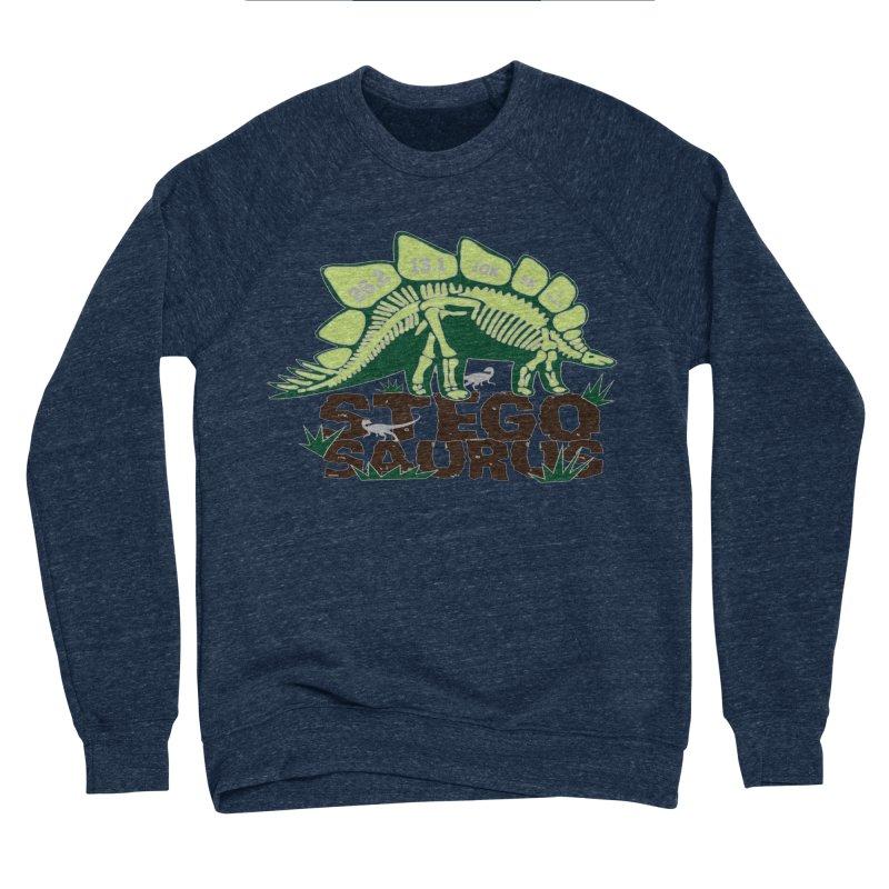 Dinosaurs! Stegosaurus Men's Sponge Fleece Sweatshirt by Moon Joggers's Artist Shop