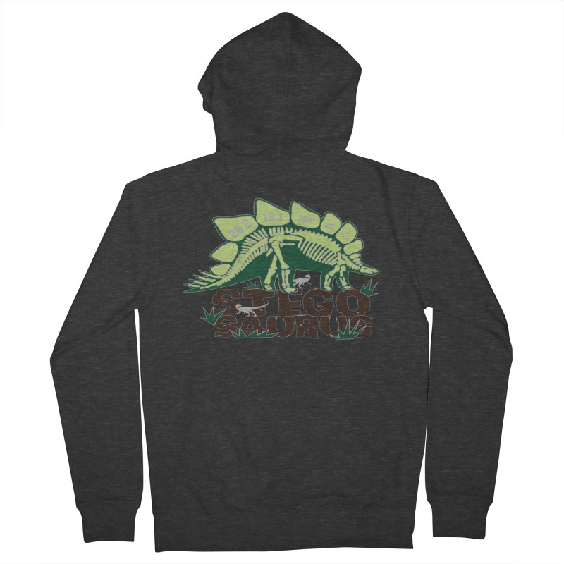 Dinosaurs! Stegosaurus Men's French Terry Zip-Up Hoody by Moon Joggers's Artist Shop
