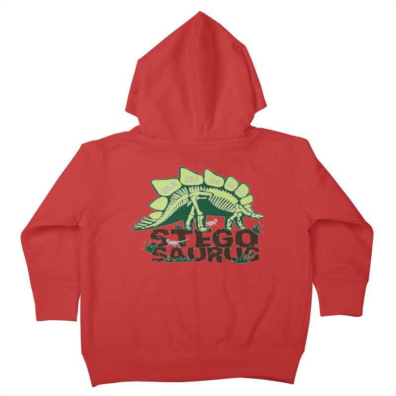 Dinosaurs! Stegosaurus Kids Toddler Zip-Up Hoody by Moon Joggers's Artist Shop