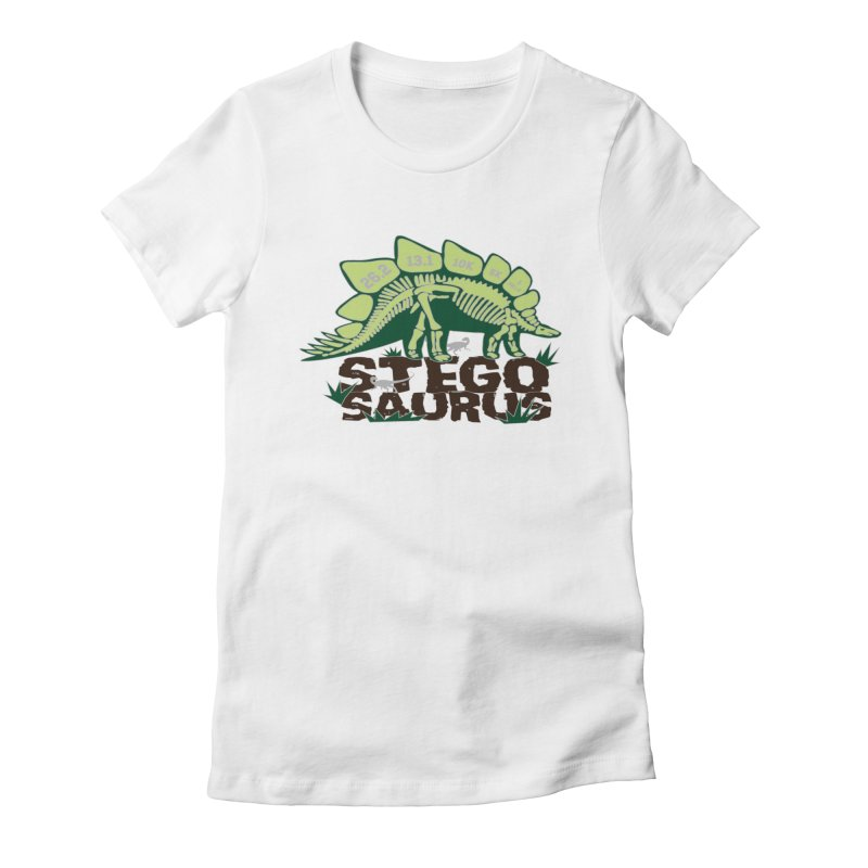 Dinosaurs! Stegosaurus Women's Fitted T-Shirt by Moon Joggers's Artist Shop