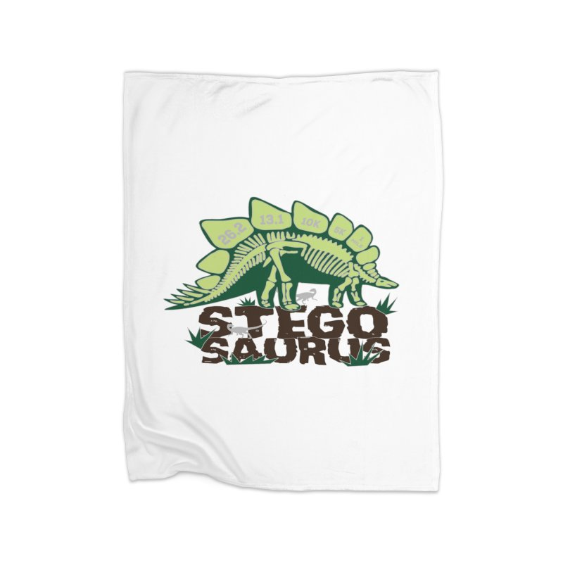 Dinosaurs! Stegosaurus Home Fleece Blanket Blanket by Moon Joggers's Artist Shop