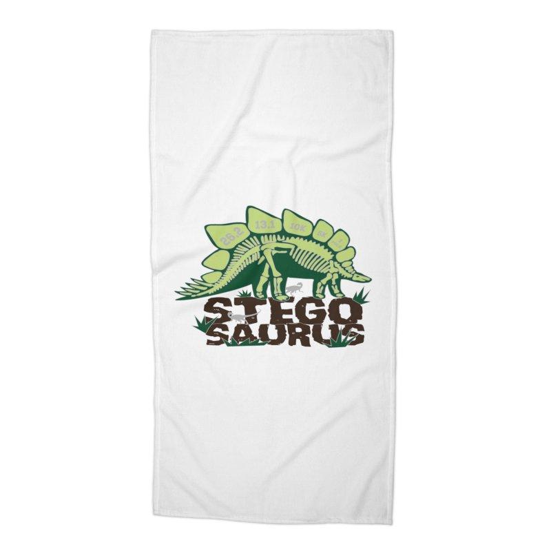Dinosaurs! Stegosaurus Accessories Beach Towel by Moon Joggers's Artist Shop