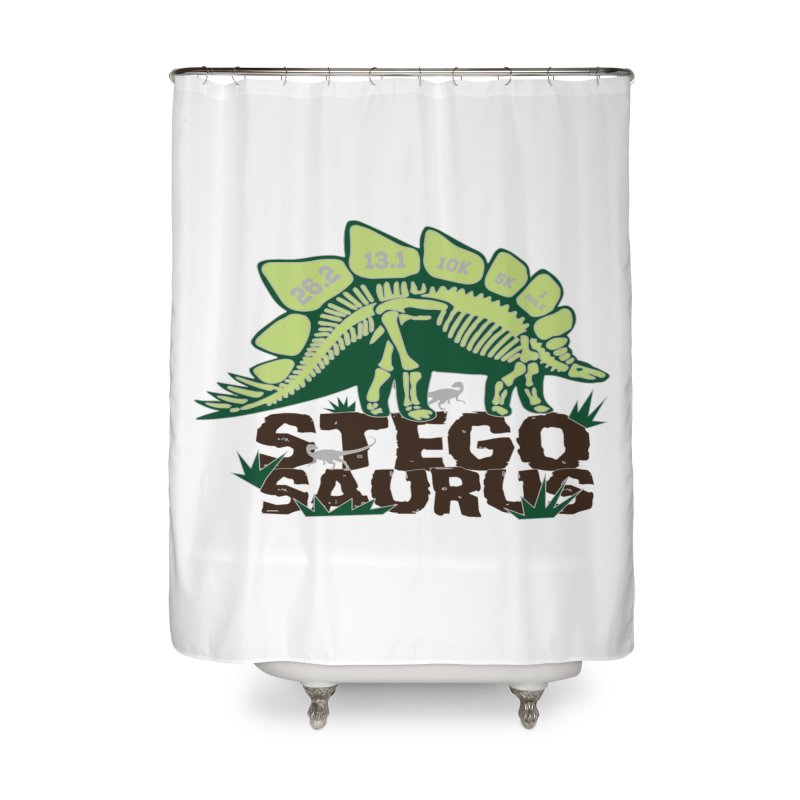 Dinosaurs! Stegosaurus Home Shower Curtain by Moon Joggers's Artist Shop