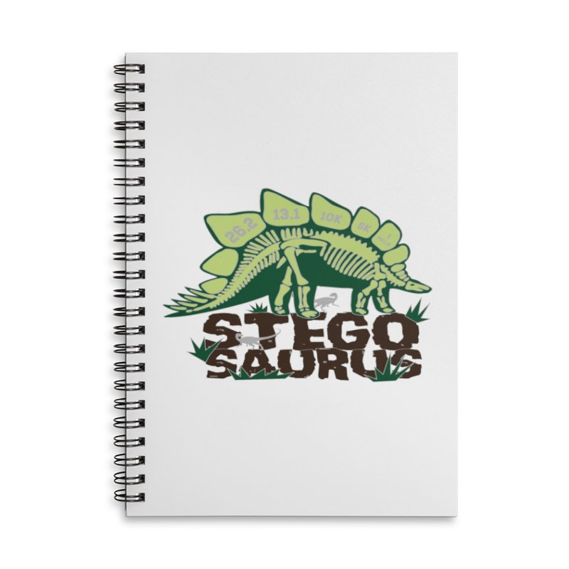 Dinosaurs! Stegosaurus Accessories Lined Spiral Notebook by Moon Joggers's Artist Shop