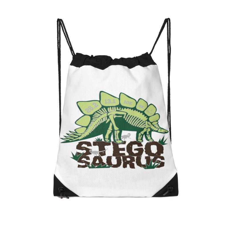 Dinosaurs! Stegosaurus Accessories Drawstring Bag Bag by Moon Joggers's Artist Shop