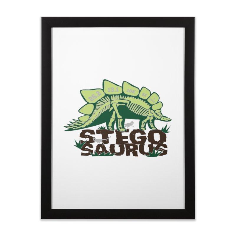 Dinosaurs! Stegosaurus Home Framed Fine Art Print by Moon Joggers's Artist Shop