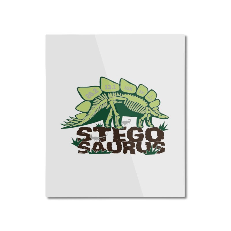 Dinosaurs! Stegosaurus Home Mounted Aluminum Print by Moon Joggers's Artist Shop