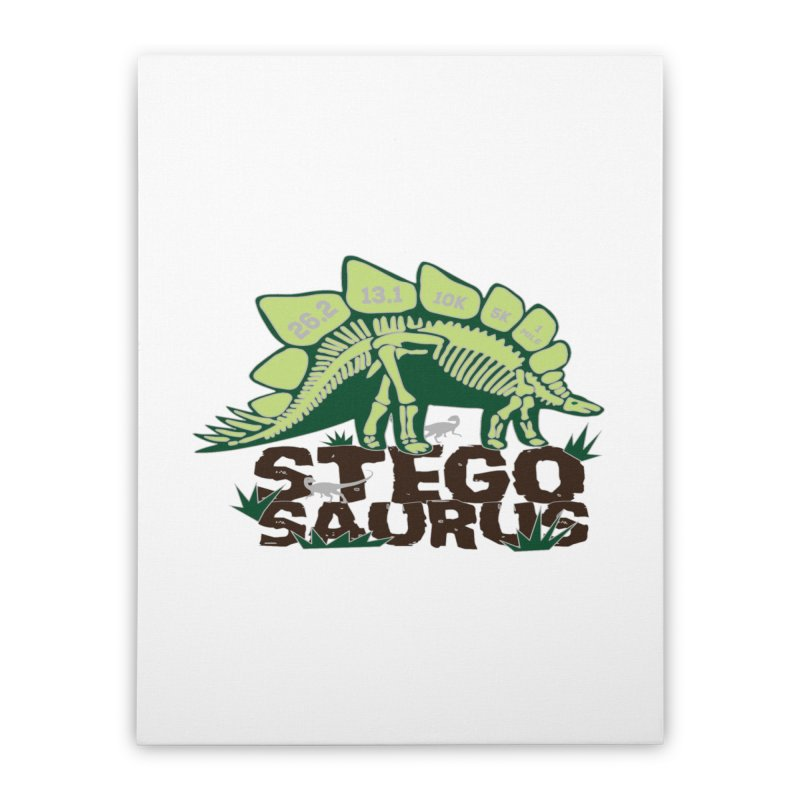 Dinosaurs! Stegosaurus Home Stretched Canvas by Moon Joggers's Artist Shop