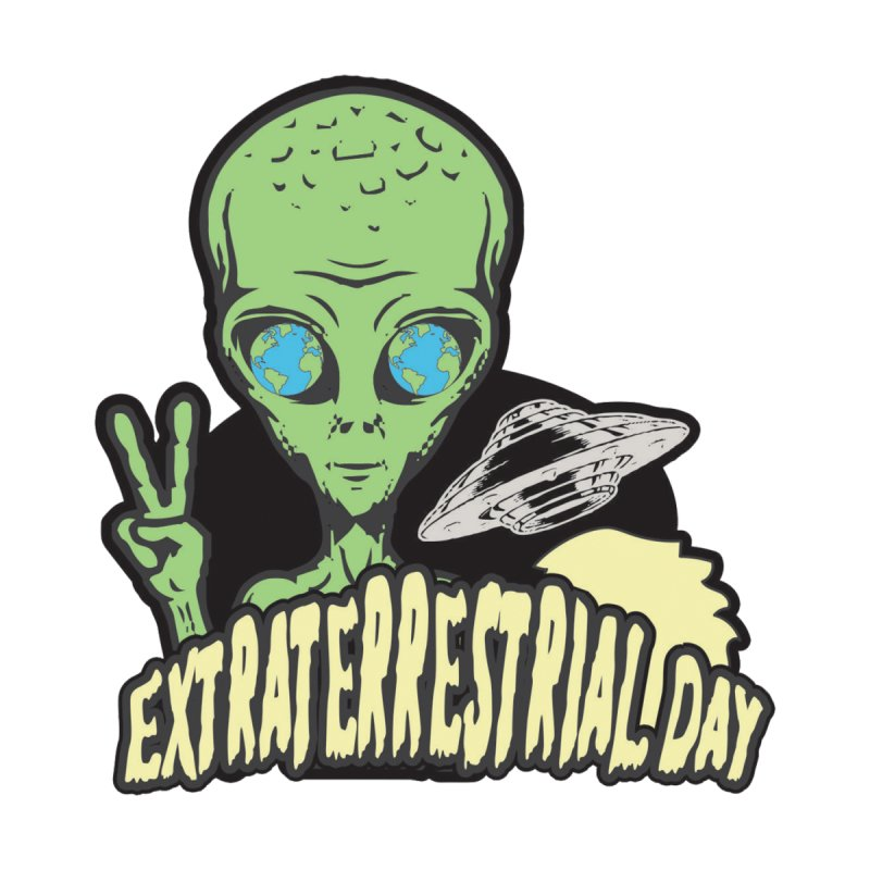Extraterrestrial Day Accessories Sticker by Moon Joggers's Artist Shop