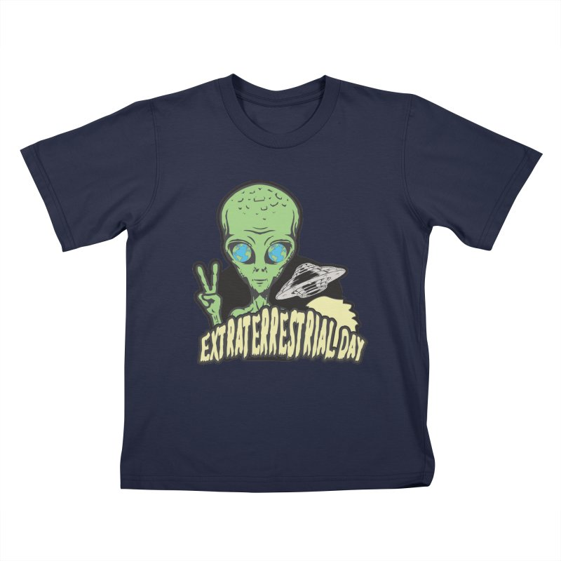 Extraterrestrial Day Kids T-Shirt by Moon Joggers's Artist Shop