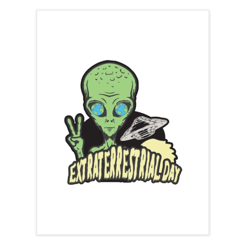 Extraterrestrial Day Home Fine Art Print by Moon Joggers's Artist Shop