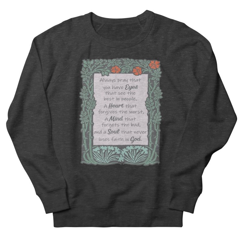 Eyes Heart Mind and Soul Men's Sweatshirt by Moon Joggers's Artist Shop