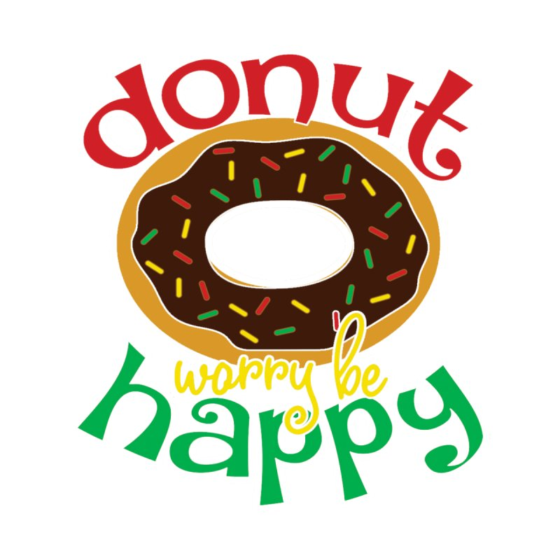 Donut Worry Be Happy - Dash 4 Donuts Accessories Sticker by Moon Joggers's Artist Shop