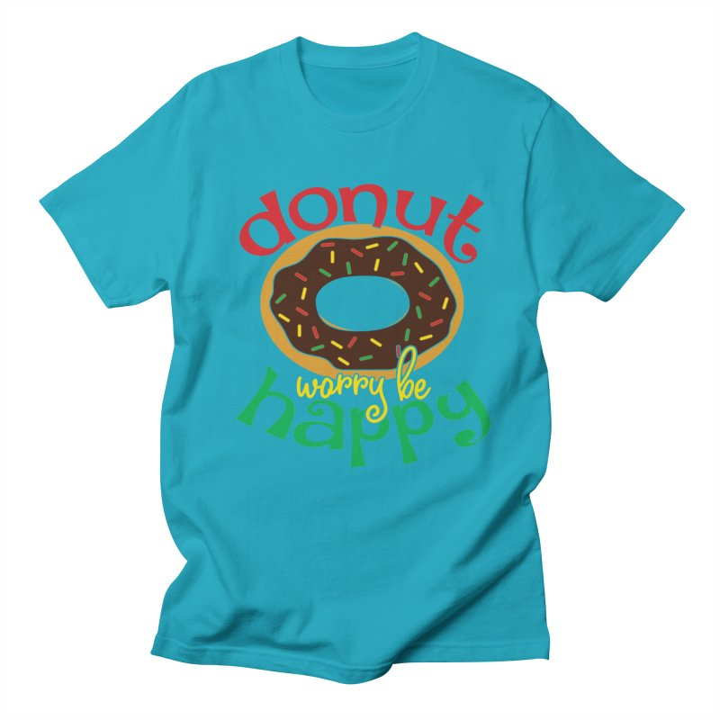 Donut Worry Be Happy - Dash 4 Donuts Men's T-Shirt by Moon Joggers's Artist Shop