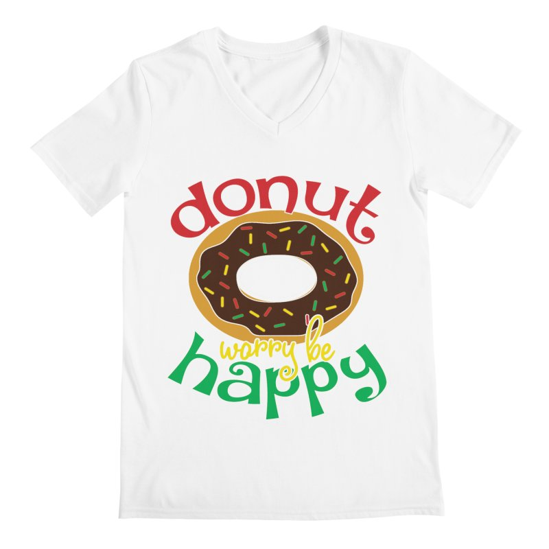 Donut Worry Be Happy - Dash 4 Donuts Men's V-Neck by Moon Joggers's Artist Shop