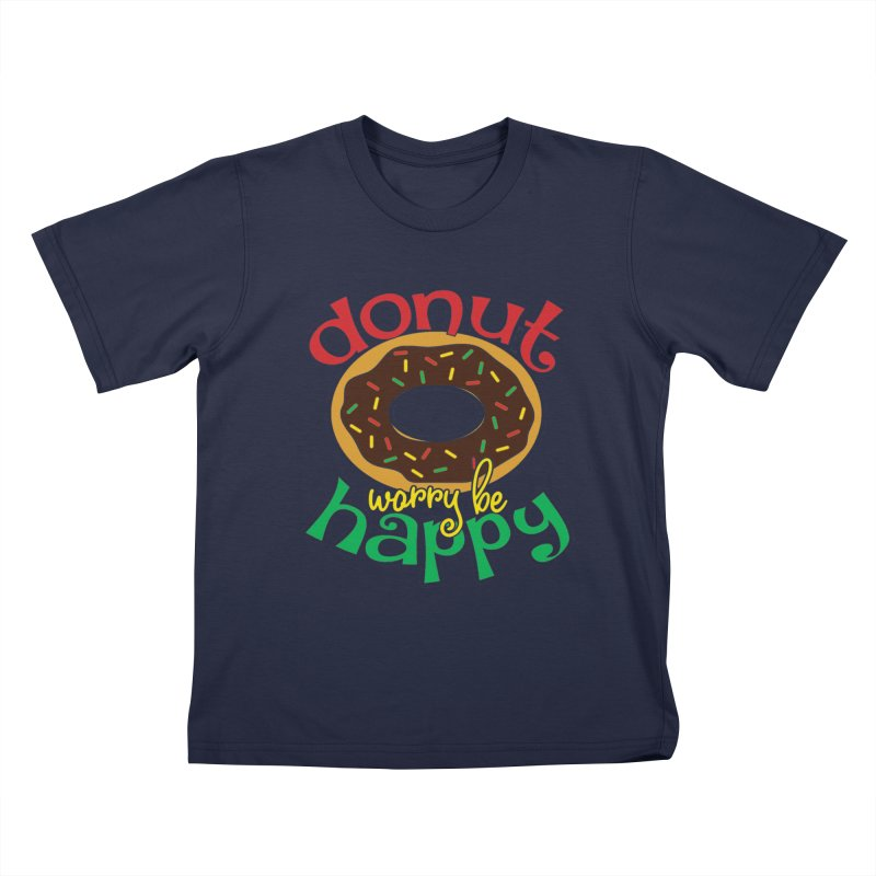 Donut Worry Be Happy - Dash 4 Donuts Kids T-Shirt by Moon Joggers's Artist Shop