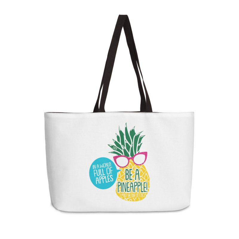 Be a Pineapple Accessories Weekender Bag Bag by Moon Joggers's Artist Shop