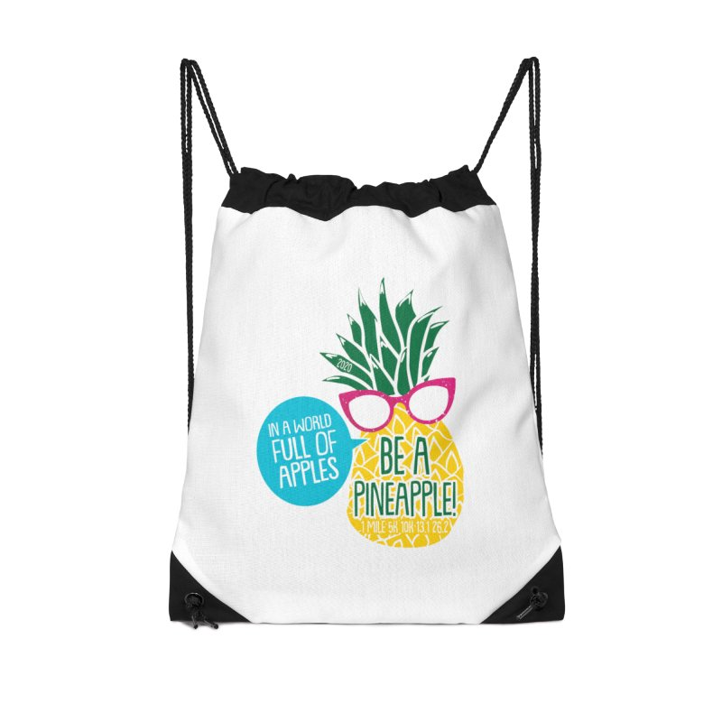 Be a Pineapple Accessories Drawstring Bag Bag by Moon Joggers's Artist Shop