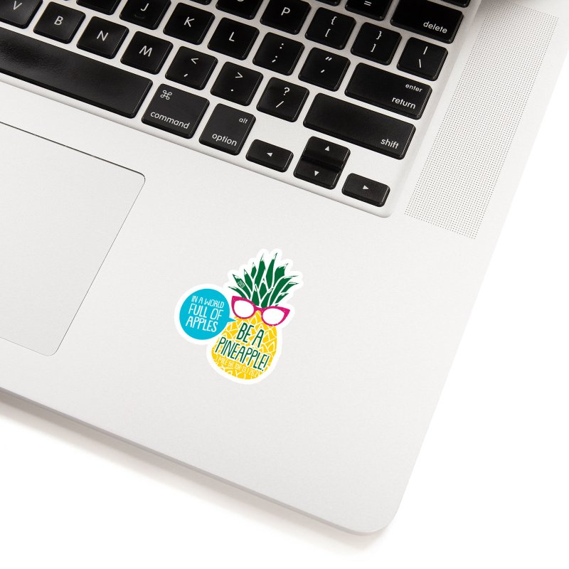Be a Pineapple Accessories Sticker by Moon Joggers's Artist Shop