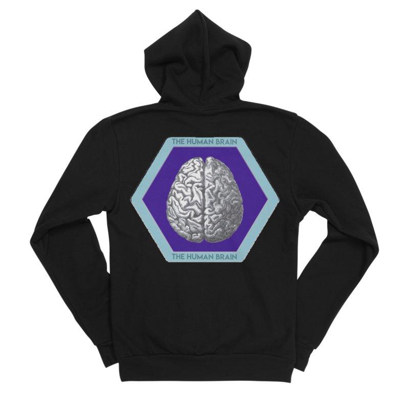 The Human Brain Men's Sponge Fleece Zip-Up Hoody by Moon Joggers's Artist Shop