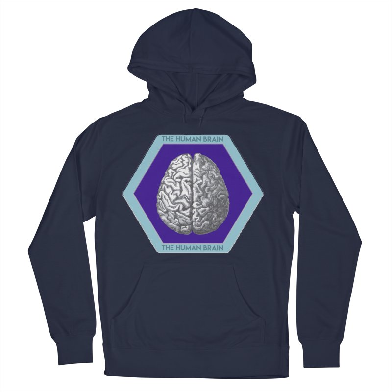 The Human Brain Men's French Terry Pullover Hoody by Moon Joggers's Artist Shop