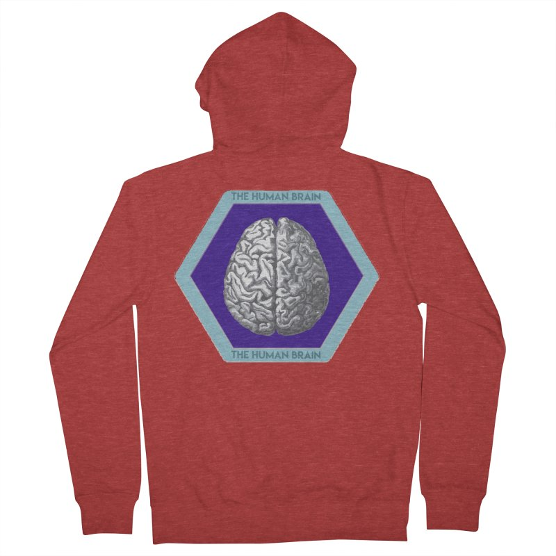 The Human Brain Men's French Terry Zip-Up Hoody by Moon Joggers's Artist Shop