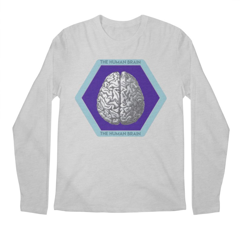 The Human Brain Men's Regular Longsleeve T-Shirt by Moon Joggers's Artist Shop