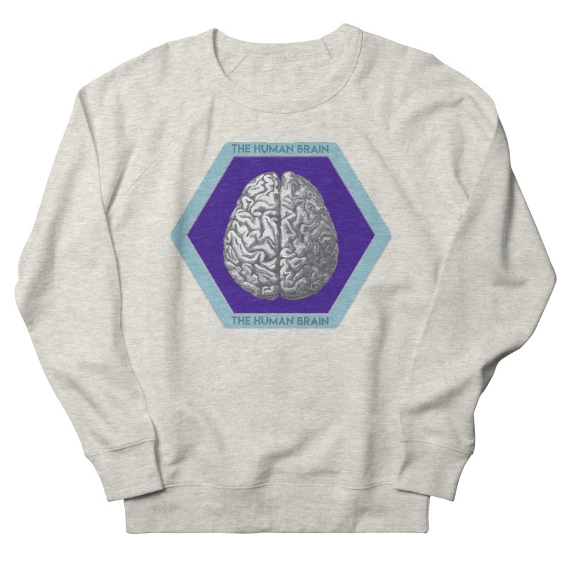 The Human Brain Men's French Terry Sweatshirt by Moon Joggers's Artist Shop