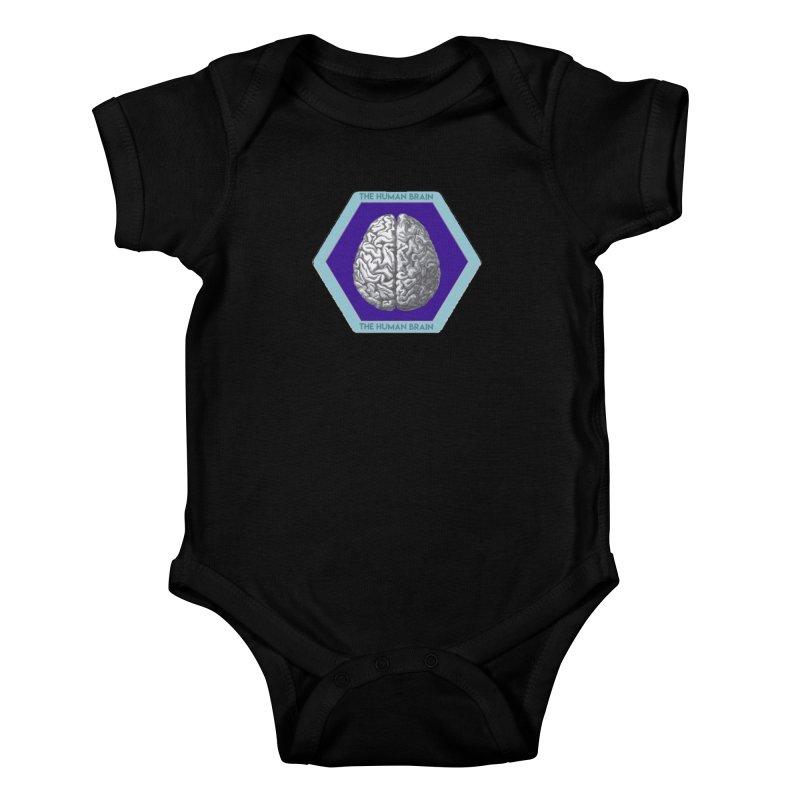 The Human Brain Kids Baby Bodysuit by Moon Joggers's Artist Shop