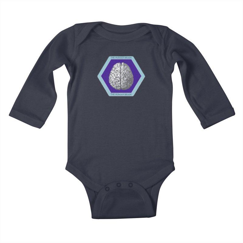 The Human Brain Kids Baby Longsleeve Bodysuit by Moon Joggers's Artist Shop