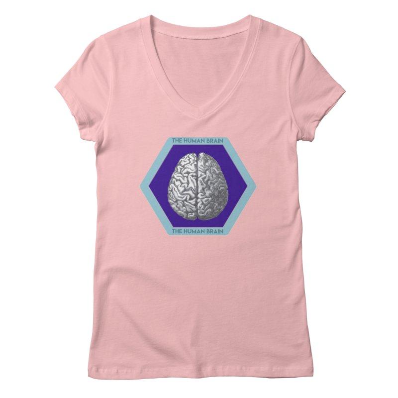The Human Brain Women's Regular V-Neck by Moon Joggers's Artist Shop