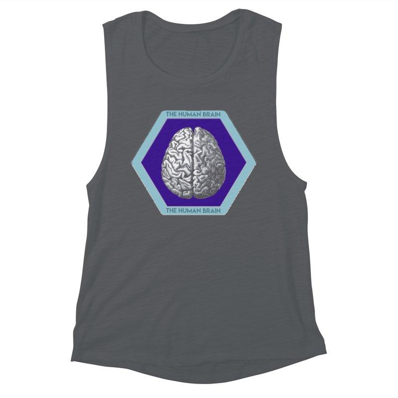The Human Brain Women's Muscle Tank by Moon Joggers's Artist Shop