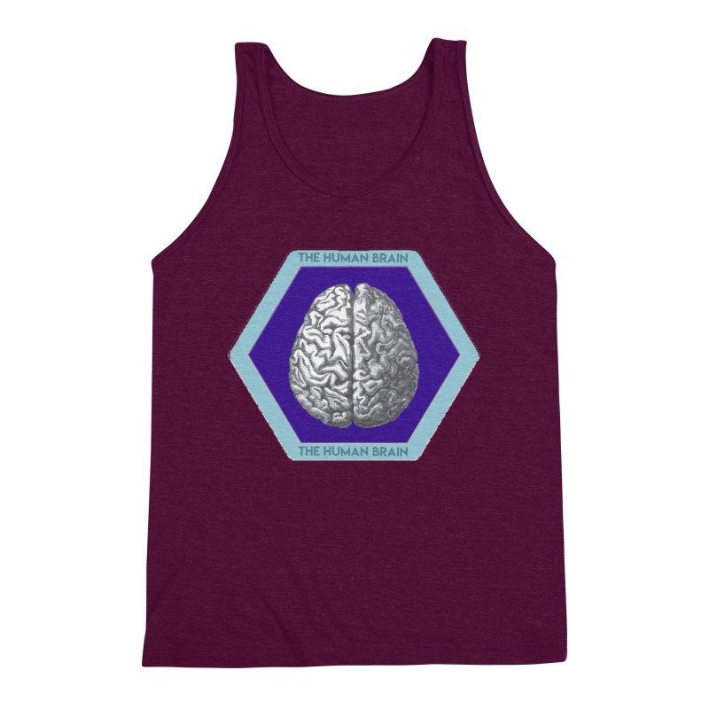 The Human Brain Men's Triblend Tank by Moon Joggers's Artist Shop
