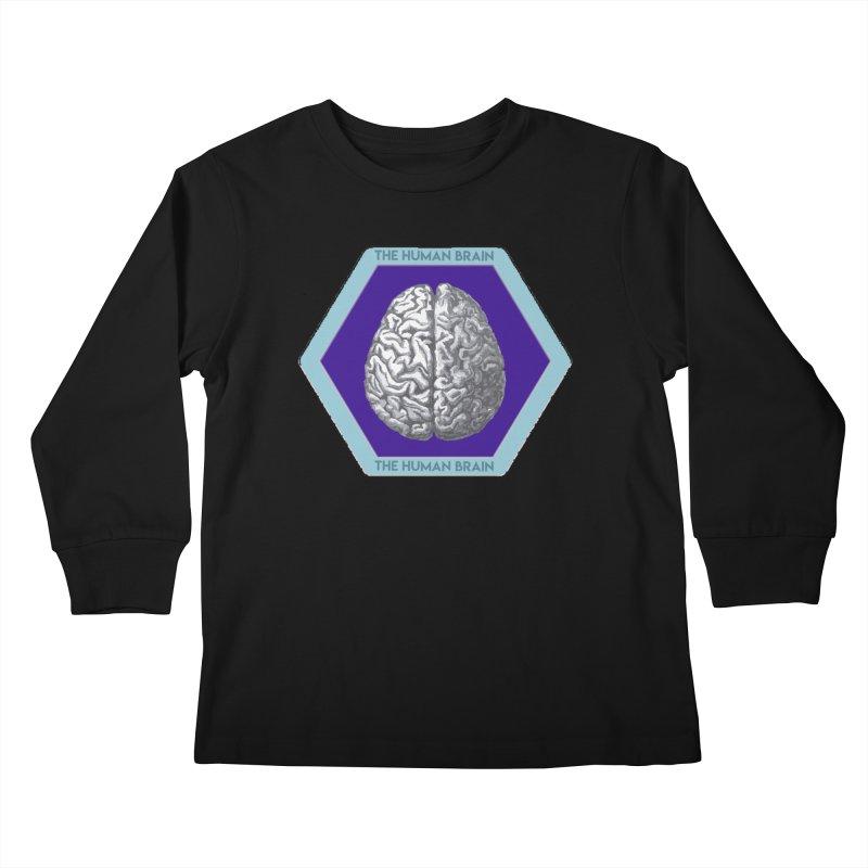 The Human Brain Kids Longsleeve T-Shirt by Moon Joggers's Artist Shop