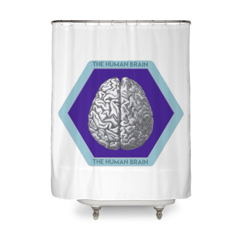 The Human Brain Home Shower Curtain by Moon Joggers's Artist Shop
