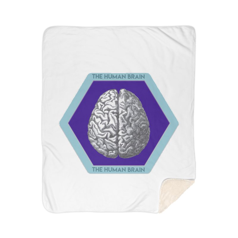 The Human Brain Home Sherpa Blanket Blanket by Moon Joggers's Artist Shop