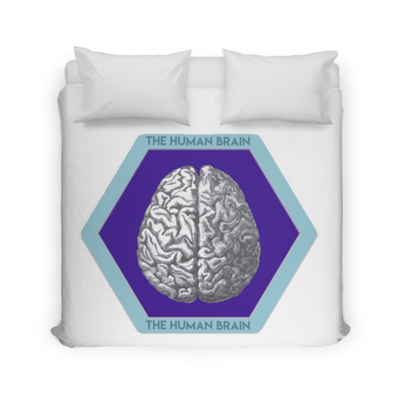 The Human Brain Home Duvet by Moon Joggers's Artist Shop