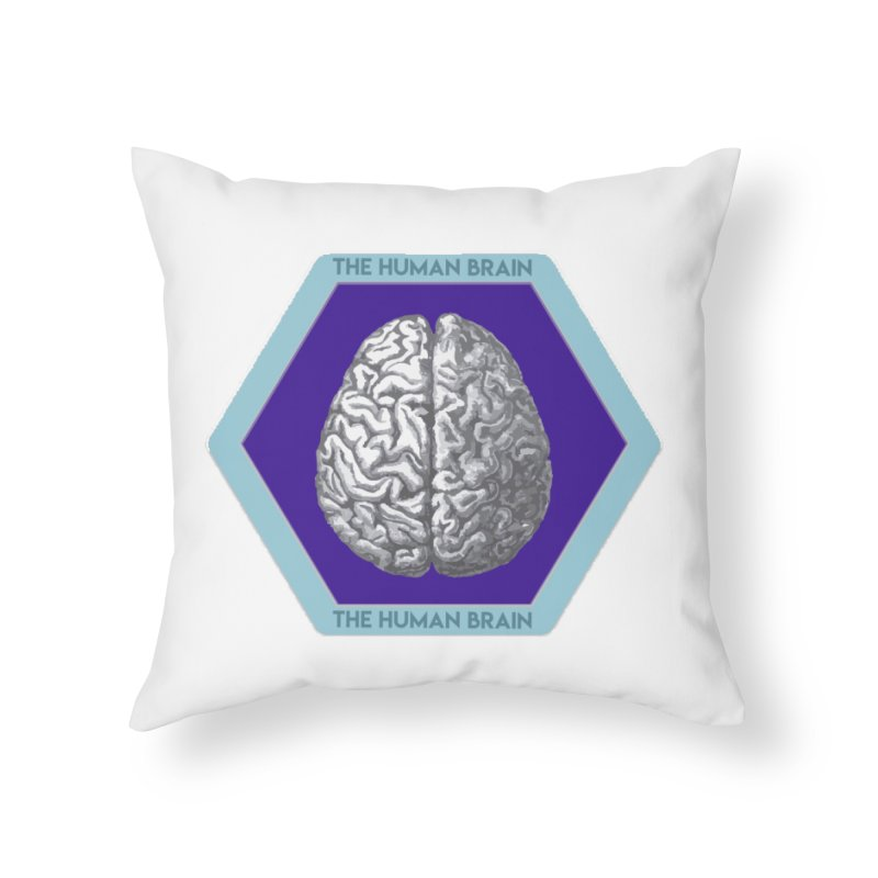 The Human Brain Home Throw Pillow by Moon Joggers's Artist Shop