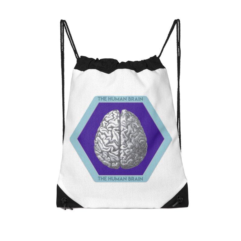 The Human Brain Accessories Drawstring Bag Bag by Moon Joggers's Artist Shop