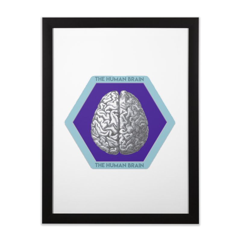 The Human Brain Home Framed Fine Art Print by Moon Joggers's Artist Shop