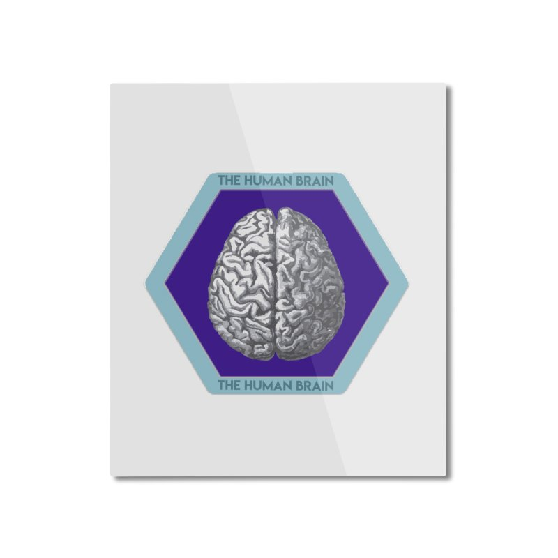 The Human Brain Home Mounted Aluminum Print by Moon Joggers's Artist Shop