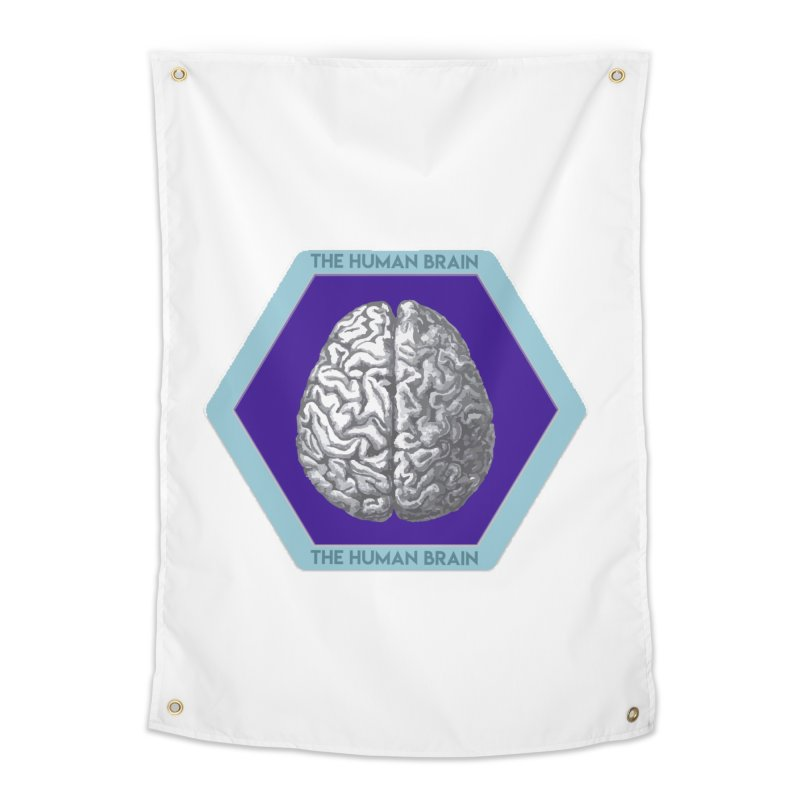 The Human Brain Home Tapestry by Moon Joggers's Artist Shop