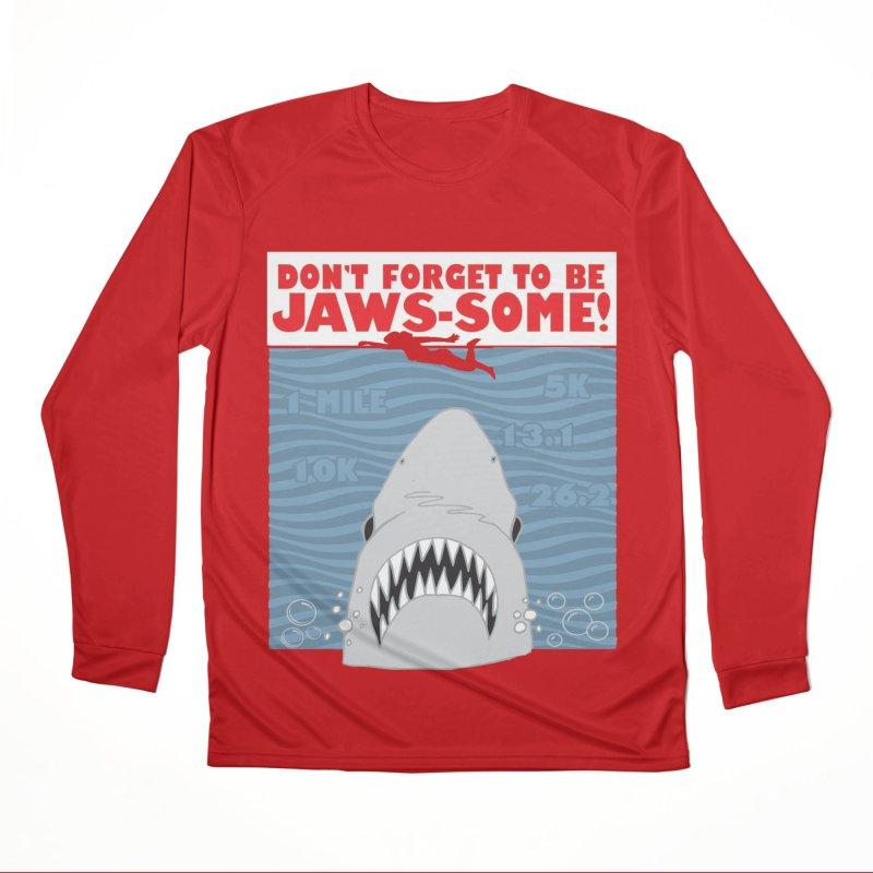 Shark Bait Hoo Ha Ha: Be JAWSome! Men's Performance Longsleeve T-Shirt by Moon Joggers's Artist Shop