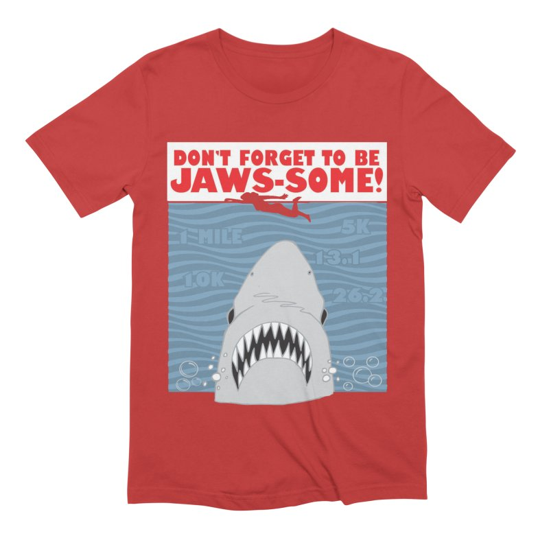 Shark Bait Hoo Ha Ha: Be JAWSome! Men's Extra Soft T-Shirt by Moon Joggers's Artist Shop