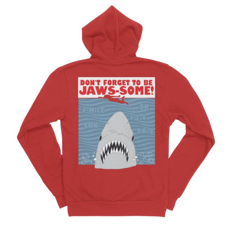 Shark Bait Hoo Ha Ha: Be JAWSome! Men's Sponge Fleece Zip-Up Hoody by Moon Joggers's Artist Shop