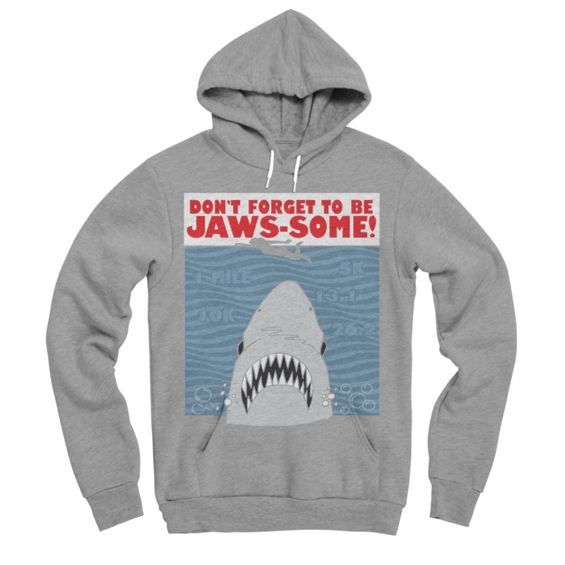 Shark Bait Hoo Ha Ha: Be JAWSome! Men's Sponge Fleece Pullover Hoody by Moon Joggers's Artist Shop