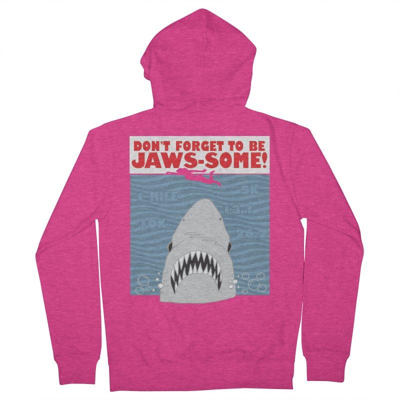 Shark Bait Hoo Ha Ha: Be JAWSome! Women's French Terry Zip-Up Hoody by Moon Joggers's Artist Shop