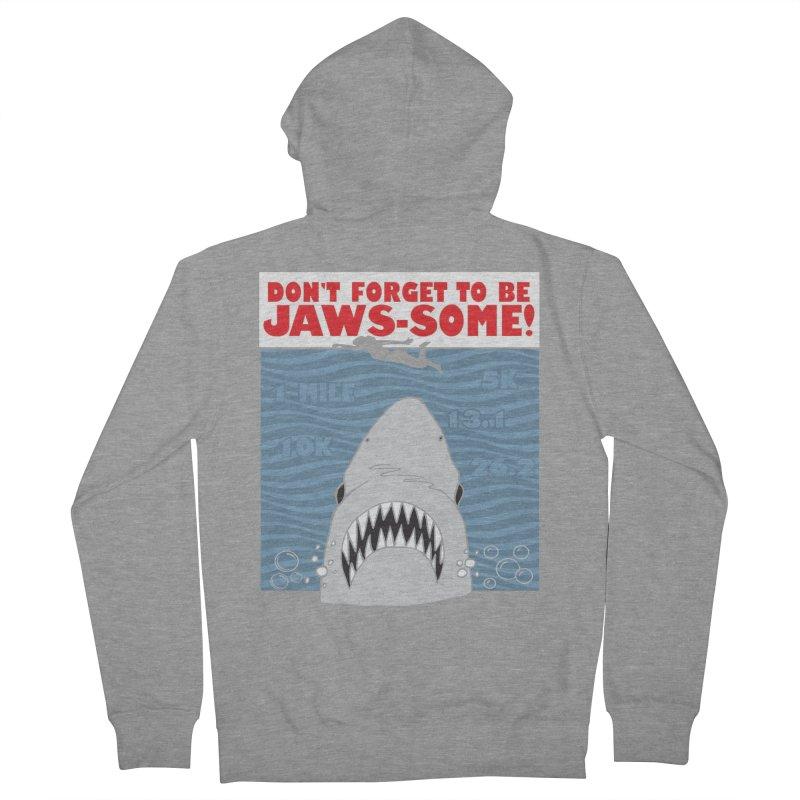 Shark Bait Hoo Ha Ha: Be JAWSome! Men's French Terry Zip-Up Hoody by Moon Joggers's Artist Shop