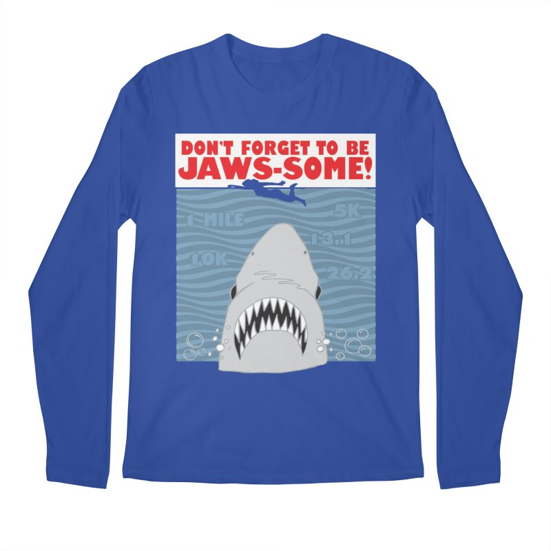 Shark Bait Hoo Ha Ha: Be JAWSome! Men's Regular Longsleeve T-Shirt by Moon Joggers's Artist Shop